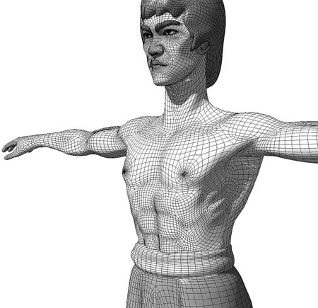 Bruce Lee - Wireframe